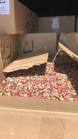 ضبط 2 طن من الفستق الحلبي المهرب في صيدا .. وزعت على الجمعيات