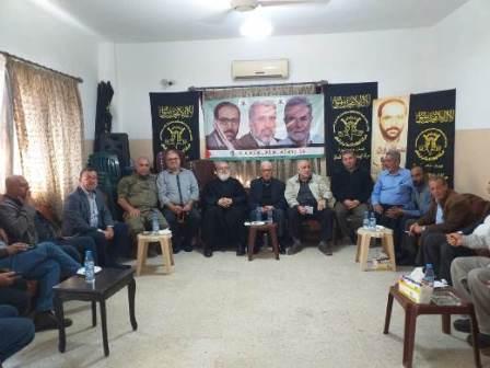 اجتماع للقيادة السياسية الفلسطينية الموحدة في منطقة صيدا يؤكد على أمن واستقرار مخيم عين الحلوة
