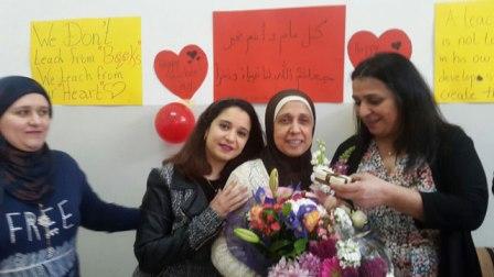 متوسطة معروف سعد تكرم المربي محمد محمود الحريري والمربية ندى خالد الرواس