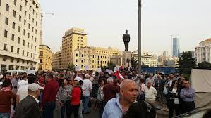 اعتصام للقاء النقابي في رياض الصلح طالب بعودة الحياة الدستورية