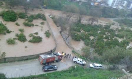 فيديو يظهر فيضان نهر أبو علي
