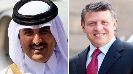 اتصال غير مألوف بين العاهل الأردني وأمير قطر