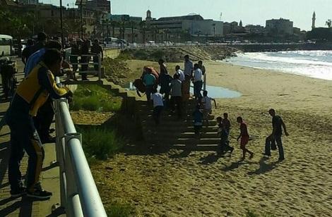 غرق شاب في بحر صيدا بالقرب من مسجد الزعتري وانقاذ شقيقه