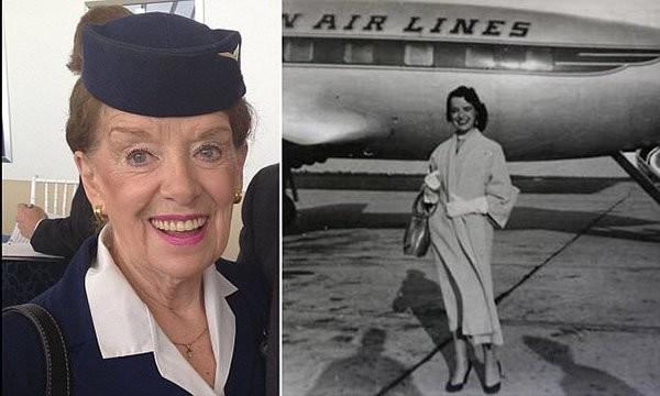 بالصور.. تعرفي إلى أقدم مضيفة طيران في العالم