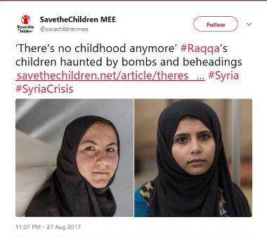 منظمة حقوقية تروي المعاناة النفسية لأطفال الرقة جراء وحشية 'داعش' وغارات 'التحالف الدولي'