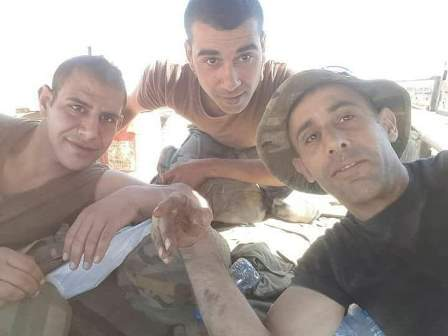 صورة الشهداء الثلاثة للجيش اللبناني في معركة فجر الجرود