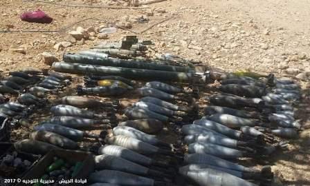 الجيش: ضبط مخزن للذخيرة في منطقة عرسال