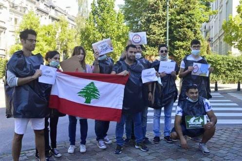 لبنانيون في بروكسل يتضامنون مع التحركات الشعبية في الوطن