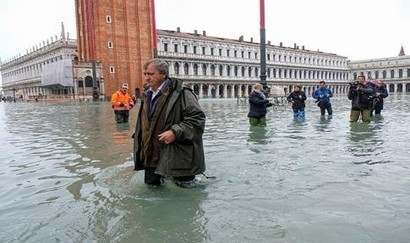 نحو مليار يورو اضرار فيضانات البندقية والسبب التغير المناخي