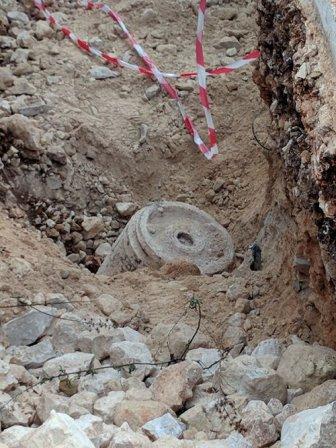 بالصورة- العثور على صاروخ غير منفجر غربي بلدة الخيام