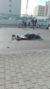قتيل بحادث سير عند المدينة الرياضية بين شاحنة ودراجة نارية