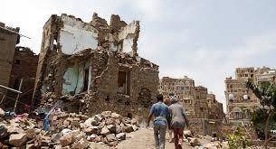 مظاهرات في صنعاء في الذكرى الثانية لتدخل التحالف العربي في اليمن
